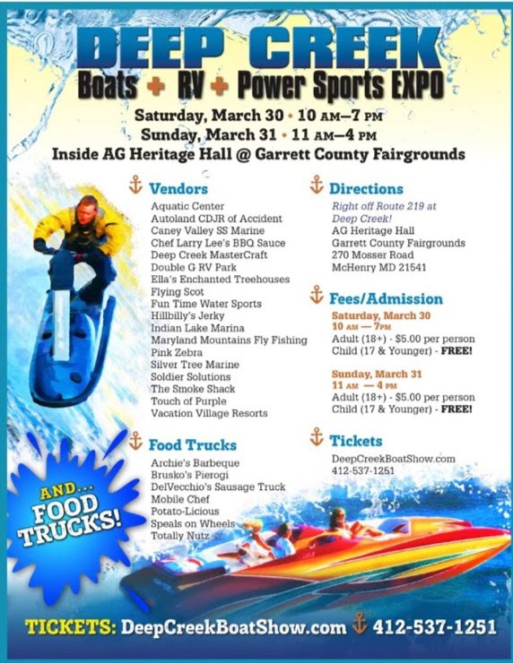 Deep Creek Boats, RV's and Power Sports Expo – Garrett County